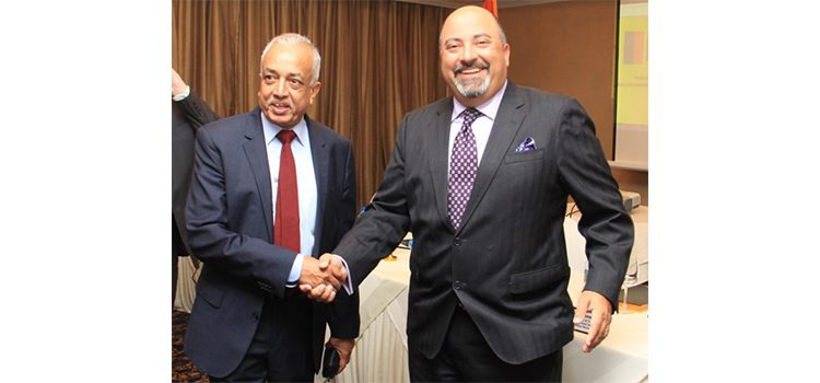 Ambassador Atul Keshap with Minister Mailk Samarawickrema