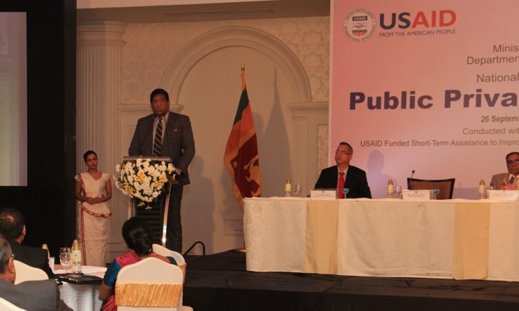 The U.S.is helping the Sri Lankan government to create a PPP framework.