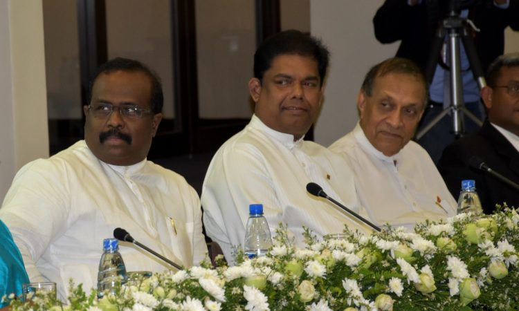 Senior Sri Lankan Government and Parliamentary Officials Listen to USAID Mission Director's Remarks