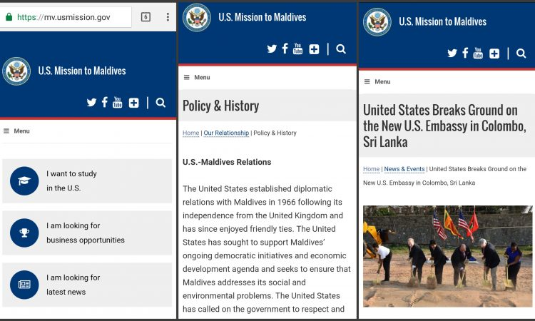 U.S. Embassy Launches New Website for Maldives